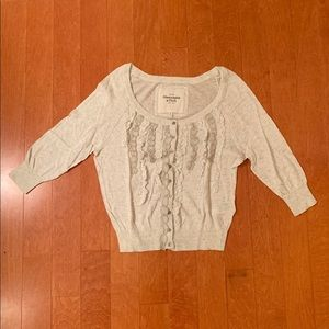 abercrombie cardigan, looks creme but is like gray
